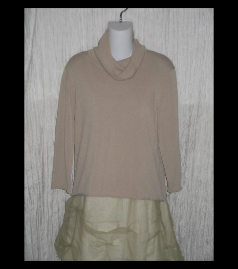 DUE per DUE Slinky Turtleneck Tunic Top Shirt X-Large XL
