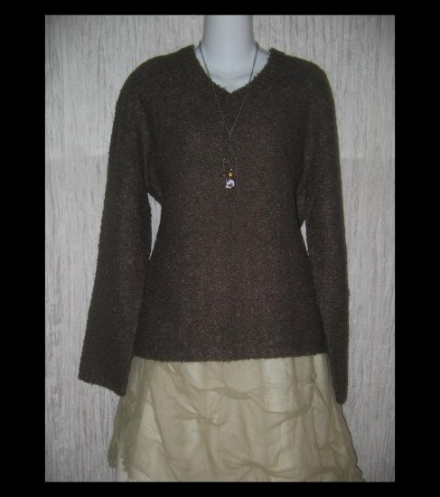 J.  Crew Soft Brown Nubby Knit Pullover Sweater Top Medium M