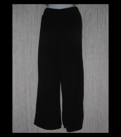 Stephanie Schuster for Princess Knitwear Black Knit Wide Leg Pants Medium M