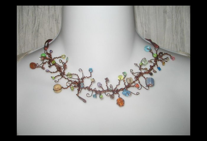 NEW Ever & Anon 'Kallisti's Garden' Whimsical Art to Wear Necklace