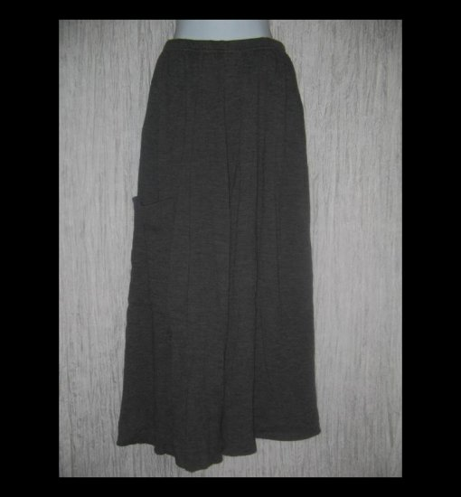 CLOTHESPIN Boutique Long Loose Gray Textured Knit Lagenlook Pants Small S