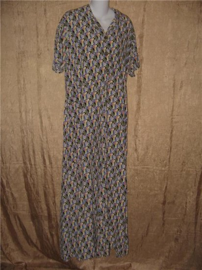 FLAX by Jeanne Engehart Very Vintage Tropics Dress Meduim M