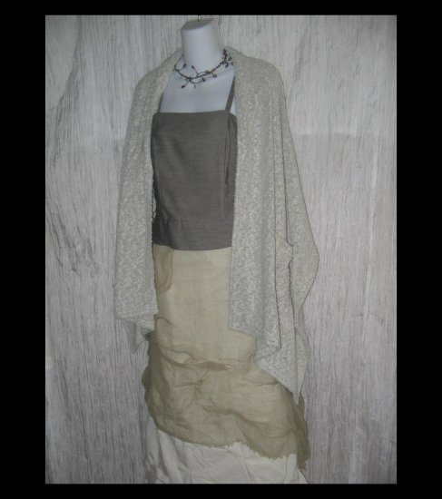 Cozy Hybernation Soft Nubby Knit Lagenlook Art to Wear Pocket Scarf Wrap
