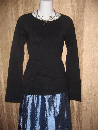 Banana Republic Black Tunic Sweater Shirt Top Medium M
