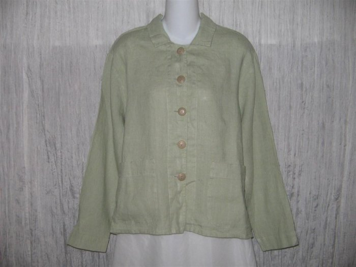 New FLAX Boxy Green Linen Jacket Engelhart S