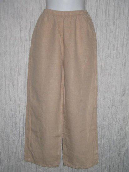 J. Jill Earthy Beige Loose Linen Pants X-Small XS