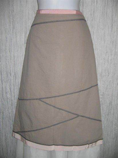 Neesh by D.A.R. Ribbon Trimmed Diagonal Seams Skirt Medium M