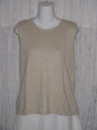 Talbots Irish Linen Knit Pullover Tank Top Shirt Medium M