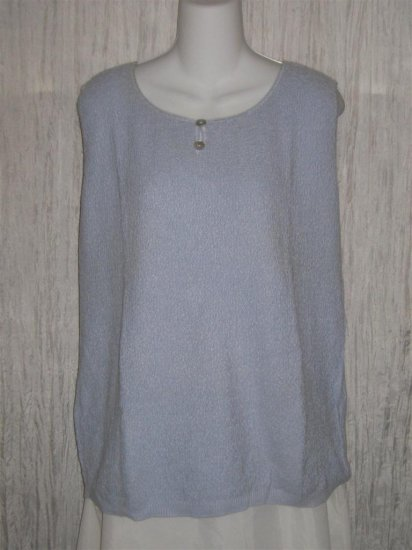 Summer Field Street Soft Blue Knit Pullover Tank Top 2X