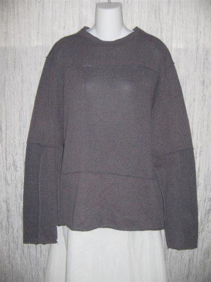 Toku Muted Purple Inside Out Seams Tunic Sweater XL