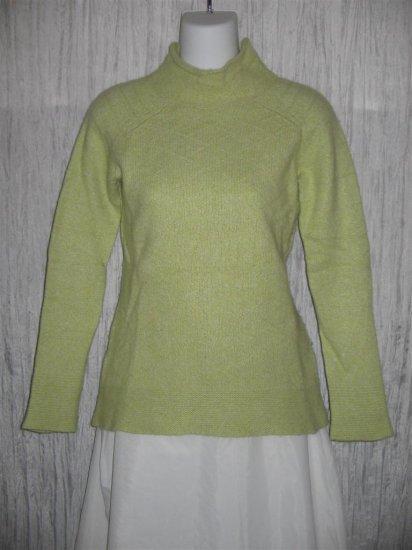 Nazareno Chiatti Soft Green Knit Tunic Top Sweater Small S