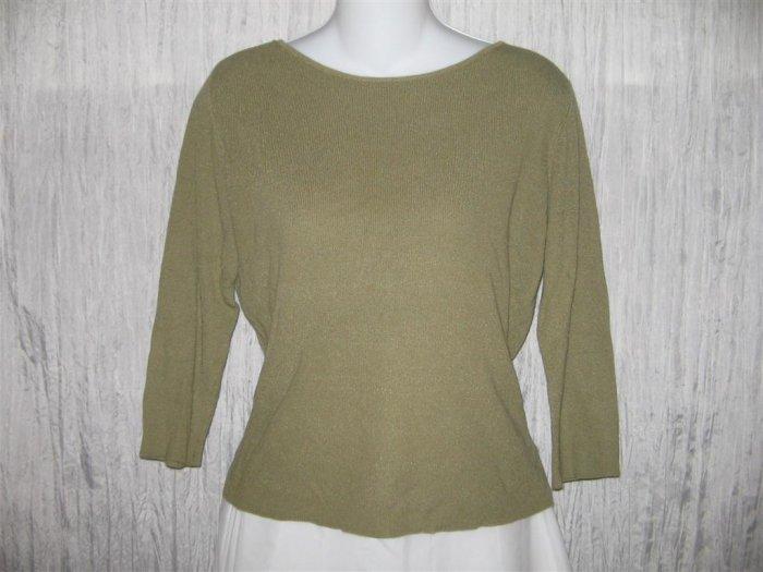 Carole Little Slinky Knit Pullover Shirt Tunic Top Medium M