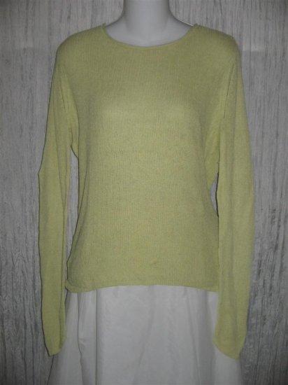 J. Jill Light Green Layered Knit Tunic Top Sweater Medium M