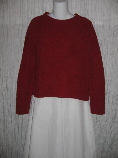 Colorado Clothing Soft Red Chenille Knit Pullover Sweater Top Small S