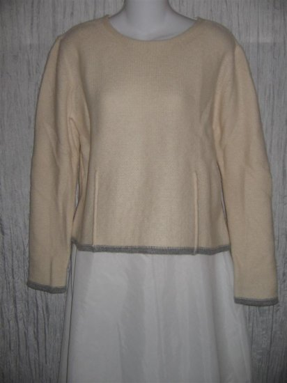 Eddie Bower Soft Cream Lambs Wool Sweater MP