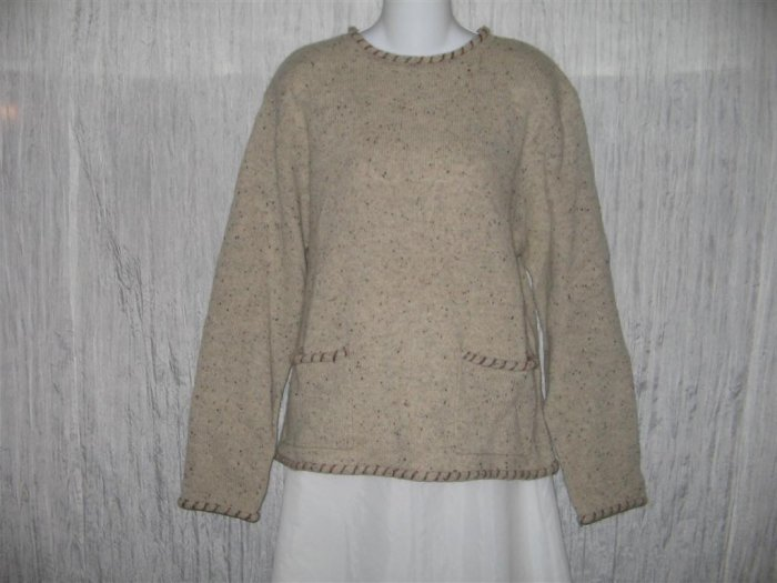 Woolrich Natural Wool Pullover Pocket Sweater Top Medium M