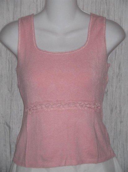Cotton Emporium Softest Pink Shapely Knit Pullover Sweater Top Medium M