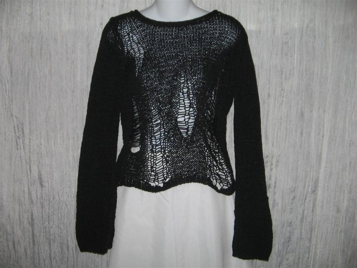DIDI Boutique Black Loose Knit Pullover Sweater Top 1 S M