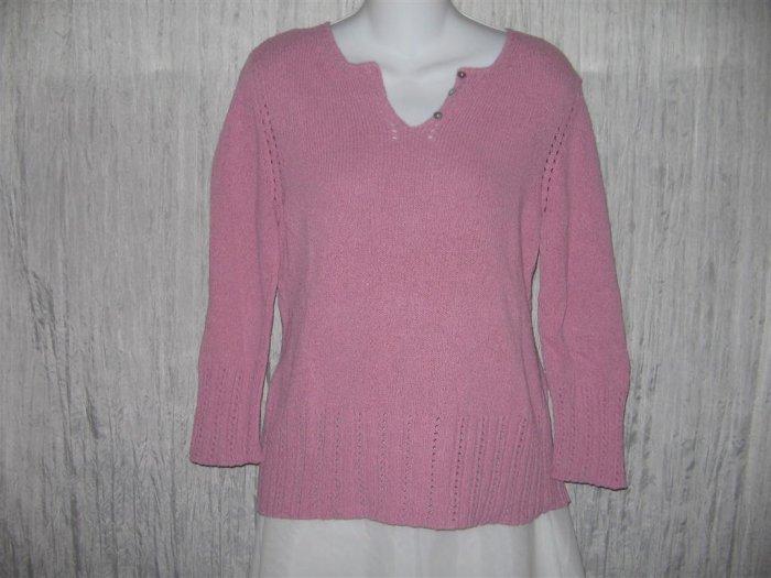 J. Jill Pink Silk Blend Knit Pullover Sweater Top Medium M