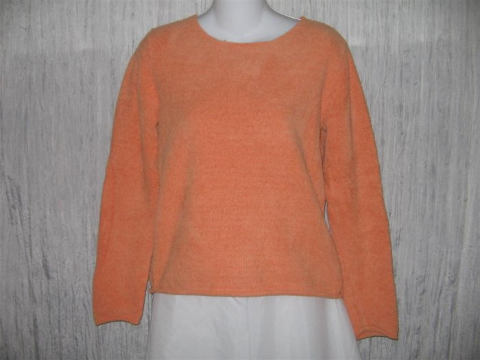 J. Jill Soft Orange Chenille Knit Pullover Sweater Top X-Small XS