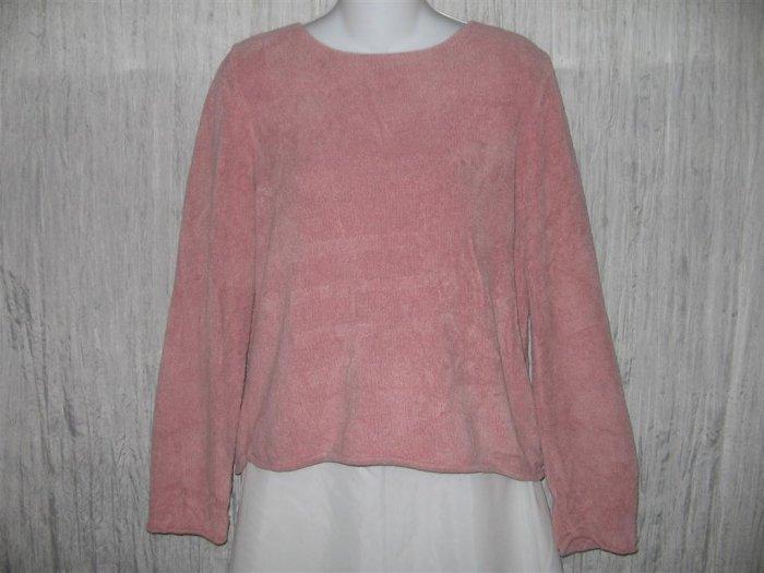 J. Jill Soft Pink Chenille Knit Pullover Sweater Top Medium M