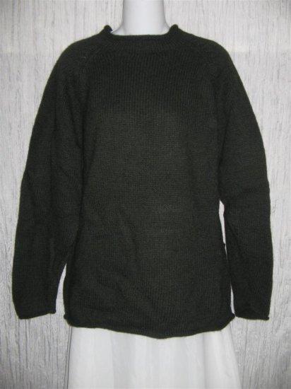 PERUVIAN TRADING Co. Green Merino Wool Tunic Sweater Top OS