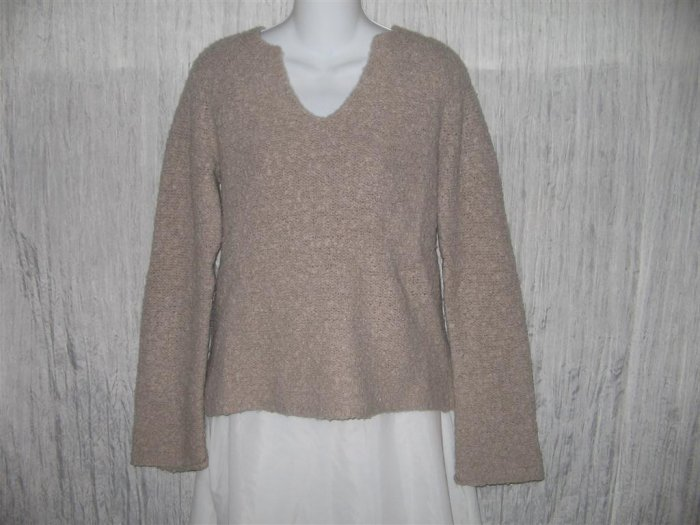 J. Crew Soft Taupe Nubby Knit Pullover Sweater Top Medium M