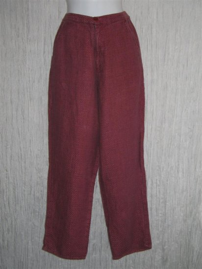 FLAX Berry Basket Tweed LINEN Trousers Pants Jeanne Engelhart Small S