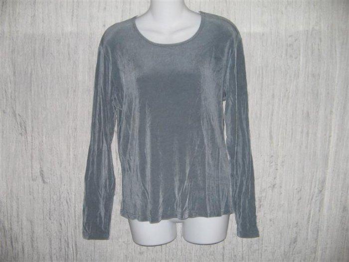 FLAX Slinky Tunic Top Shirt Jeanne Engelhart Large L