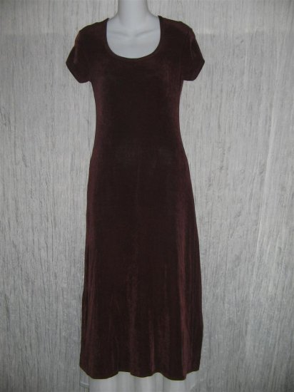 ZANONI by Jalate Long Shapely Slinky Purple Knit Dress S