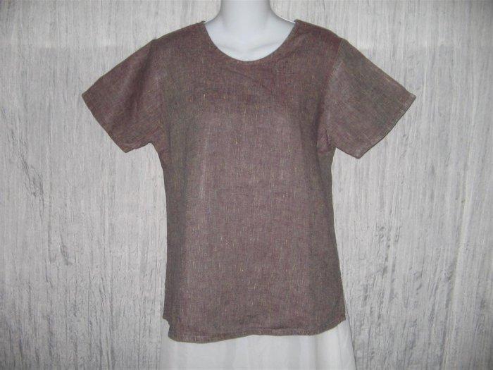 Jeanne Engelhart FLAX Linen Pullover Shirt Tunic Top Petite P
