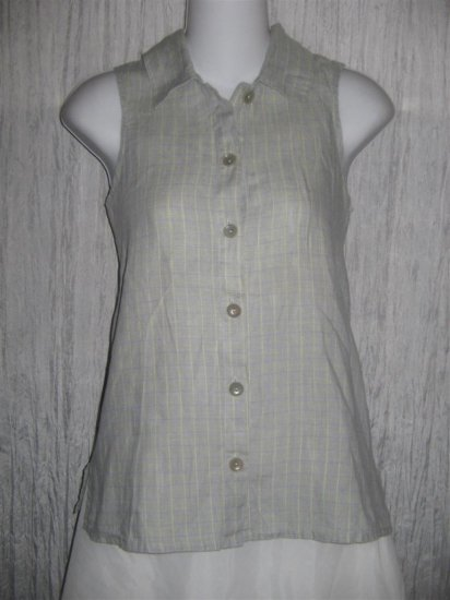FLAX Soda Pop Tank Shirt Top Jeanne Engelhart Petite P