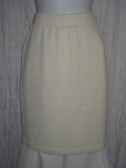 ST. JOHN Evening Short Shapely Cream Santana Knit Skirt 2