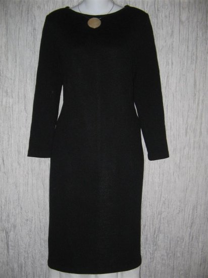 ST. JOHN Collection Marie Gray Shapely Black Santana Dress 12