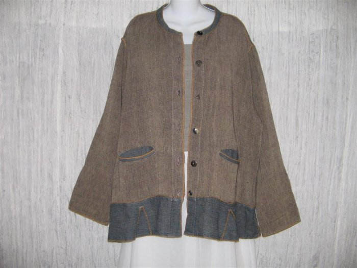 TRIBE by A People United Earthy Art to Wear Skirted Tunic Jacket Large L