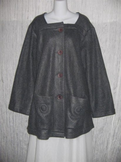 CLOTHESPIN Soft Gray Fleece Swing Jacket Coat Medium M