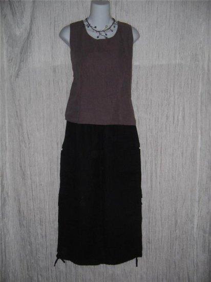COTTON WEAR Muted Purple Linen Shell Tank Top Shirt Medium M