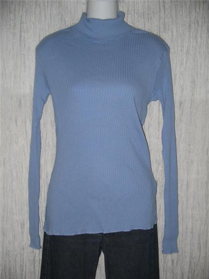 J. Jill Periwinkle Knit Turtleneck Tunic Top Shirt Large L