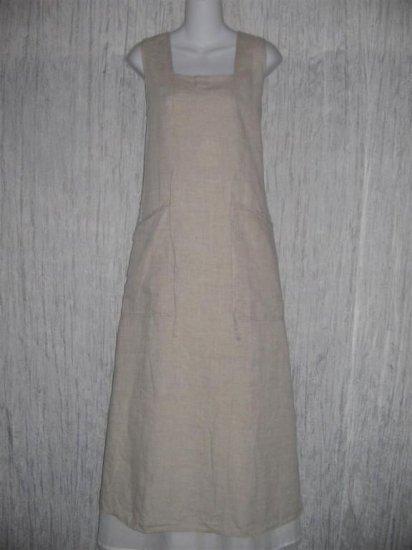 FLAX by Jeanne Engelhart Long LINEN Tied Waist Dress MEDIUM M