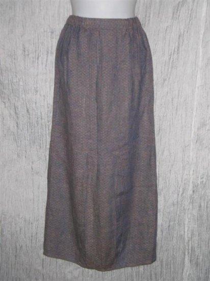 FLAX Purple Textured Bubble Skirt Jeanne Engelhart Petite P