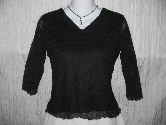 NINETY Textured Black Knit Pullover shirt top X-Small XS