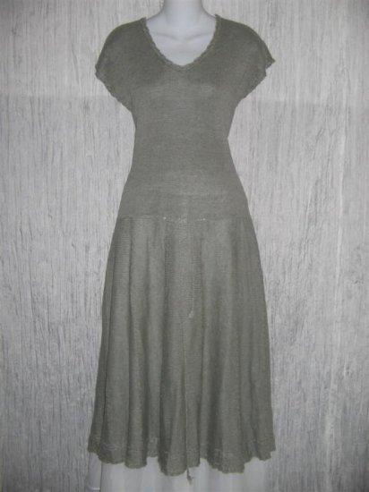 Angelheart Designs by Jeanne Engelhart Linen Sweater Dress Flax Medium M