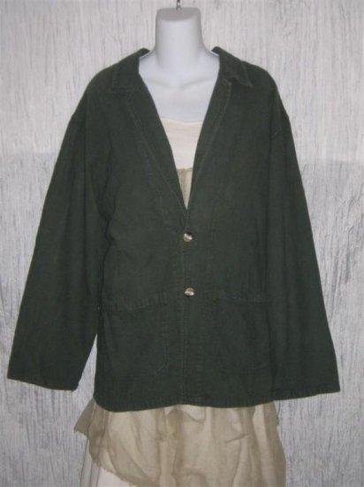 California Drawstrings Green Cotton Button Jacket Shirt Top Small S