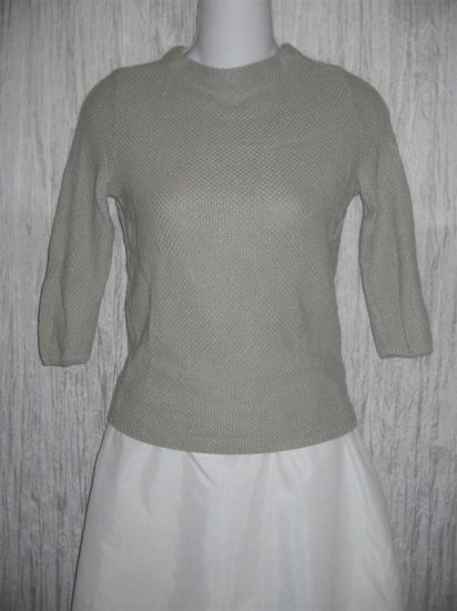 SYSTEM Soft Gray Knit Pullover Sweater Top X-Small XS
