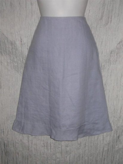 Hennes Soft Purple Lined Ramie Ruffle Knee SKIRT 8 Small Medium S M