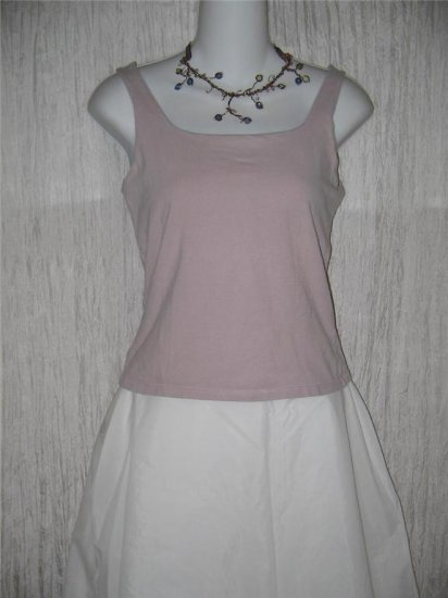 J. Jill Stretch Lilac Knit Fitted Tank Top Shell Shirt Medium M