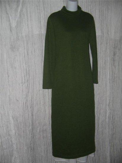 Weekenders Long Apple Green Knit Turtleneck Dress Medium M
