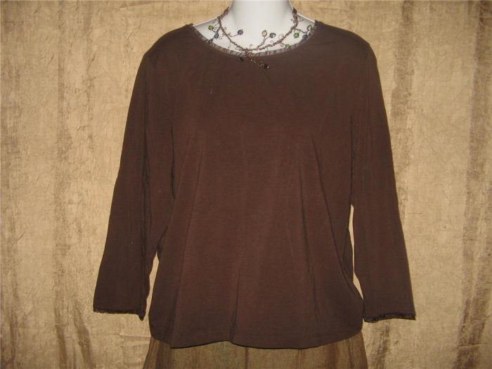 BELONGINGS Soft Brown Knit Pullover Shirt Top X-Large XL