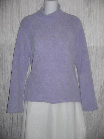 J. Jill Soft Nubby Purple Turtleneck Tunic Sweater Small Petite SP