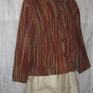 TANTRUMS Chenille Stripe Button Jacket Shirt Top Small S